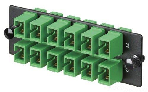 Panduit FAP12WAGSCZ Single-Mode 12-Port Fiber Adapter Panel with Zirconia Ceramic Split Sleeve, Green by Panduit