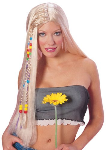 70s Headbands, Wigs, Hair Accessories Rubies Costume Long Blond Hippie Wig $12.33 AT vintagedancer.com