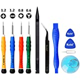 YESCOO 11PCS iPhone Repair Tool Kit iPhone Screwdriver for iPhone X XS, iPhone 8/8 Plus/7/7 Plus/6/6 Plus /6S/5/5C/5S/4/4S and More, Phillips, Pentalobe and Y 0.6mm Tri-Point Triwing Screwdrivers