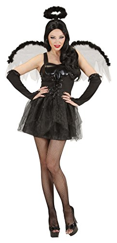 Ladies Black Angel Costume Large Uk 14-16 For Halloween Fancy Dress]()