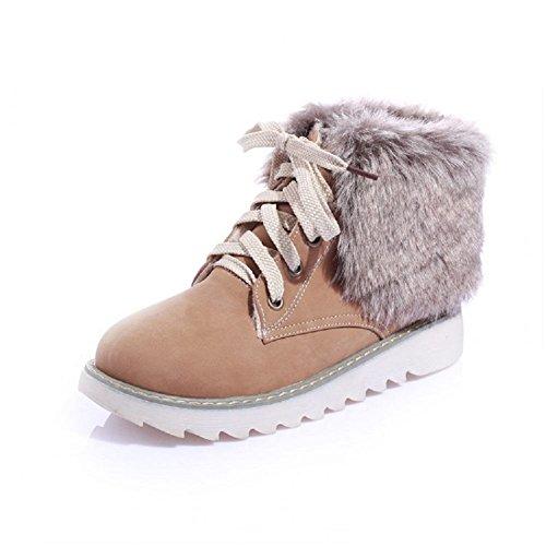 Hymne Damesschoenen Lace-ups Fashion Casual Platte Snowboots Lichtbruin