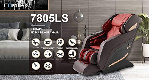 Sports & fitness Store Sobo M7809 3D Zero Gravity Massage Chair for Home Stress Relief with Soft Rollers Music Bluetooth (L Track) Chair