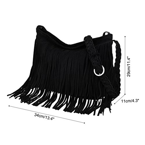 Tassels Vbiger Bag Casual Handbag Simple Messenger Leather Black Women Crossbody PU Color Shoulder for Bag Bags Fringed Camel IRqrIxwz