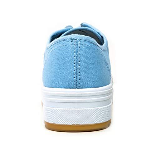 Azul Lona Zapatillas De con ANDY Z Mujer para Cordones 8q7TBABx