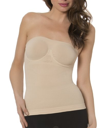 1c90ab7864 Aha Moment by n-fini Women s Plus Lycra Strapless Top Shapewear Underwire  Bra Nude 2X