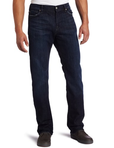 7 For All Mankind Men's Standard Straight Leg Jean in Los Angeles Dark,  Los Angeles Dark, 29X34