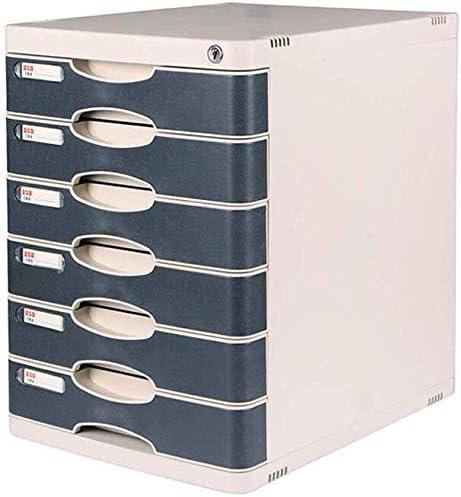 ファイルキャビネットファイルホルダーシンプルなプラスチック製の引き出し収納オフィスラックファイルの破片ボックスZhaoshunli大容量の製品出荷サイクルプラスチック ファイリングキャビネット (Color : Six Layers)