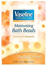 Vaseline Intensive Care Moisturizing Bath Beads Enriched with Chamomile Peaceful Orchard 24 oz.