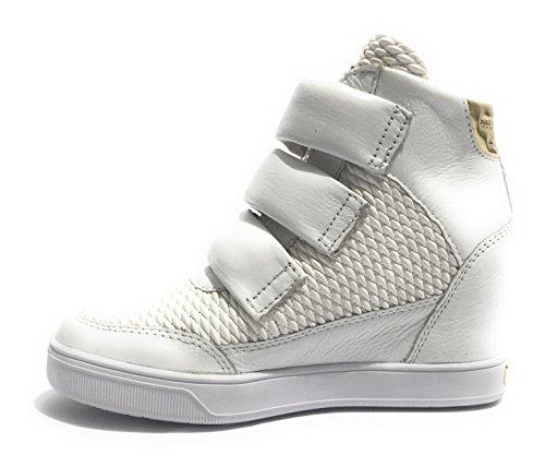 Zapatillas Guess mujer Piel para de Bianco Fosca blanco CqqSwH4vF