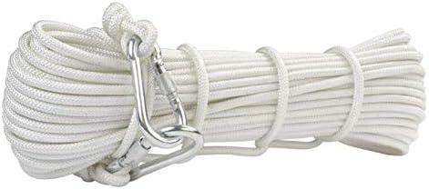 ロープ、8mm の家の火の脱出の救助ロープのハイキングの洞窟探検のための多機能コードの安全ロープは救助の探検および工学の保護を救います,White,20m