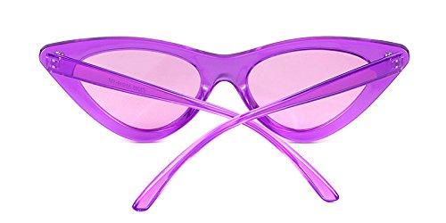 mujeres Púrpura Gafas retro Kurt protección de Gafas Cobain Púrpura estilo ojo de ADEWU gato 1 Marco de vintage de Lente de niñas para sol sol Transparente gafas PWdccSqT
