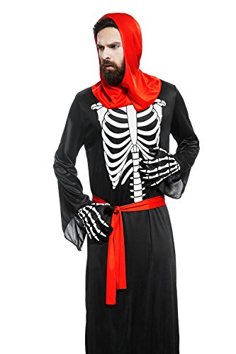 [Adult Unisex Grim Reaper Death Halloween Costume Crypt Keeper Dress Up & Role Play (One size fits] (Diablo Reaper Of Souls Costume)