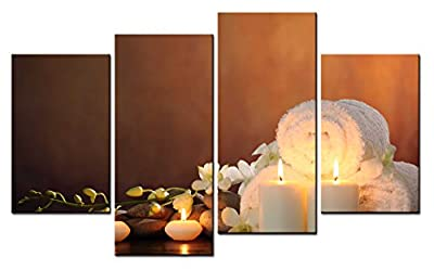 SmartWallArt@ -4 Piece Wall Art Painting SPA--- Picture On Canvas Stretched By Wooden frames-For Home Modern Living Room Decor Hang Up Fairly Easily