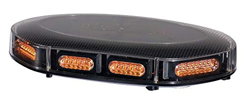 - PSE Amber Amber Low Profile Mini Lightbar, LED Lamp Type, Permanent/Magnetic Mounting, Number of Heads: 8 - FX817A