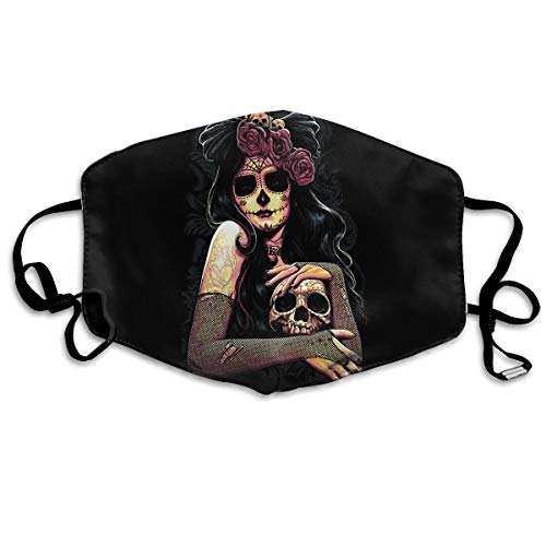 YUANSHAN Dust Mask Flower Skull Queen Outdoor Mouth Mask Anti Dust Mouth Mask Man Woman -