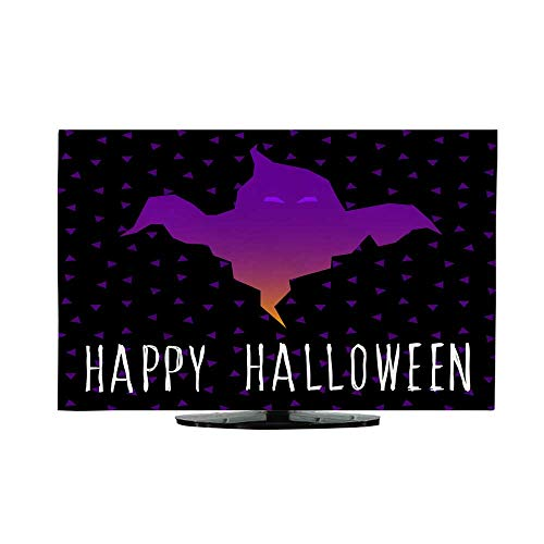 Miki Da Outdoor tv Cover Flat Screen tv Cover 70 inch Happy Halloween Card Template Abstract Halloween Pattern for Design Card Party Invitation Poster Album -