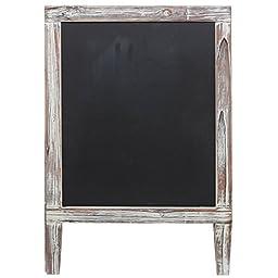 Freestanding Country Rustic Style Message Memo Chalkboard Sign / Sidewalk A-Frame Chalk Sandwich Board