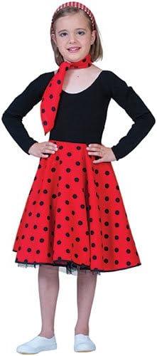 Rock Rojo Negro Red Falda 50 y 60 Disfraz infantil niños sin ...