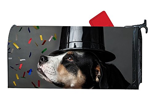 - MALBX Dog With A Hat Celebrating Mailbox Cover Decorative Magnetic Mailbox Wrap with Happy Thanksgiving Cornucopia and Turkey Design 6.5 x 19 Inches