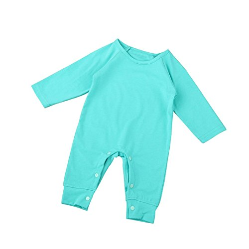 TAORE Newborn Infant Kids Baby Boys Girls Printing Romper Jumpsuit Outfits Clothes (12-18M, Green)