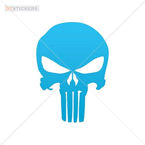 Vinyl Sticker Decals Skull Skulls Punisher Sports Bike tooth music poster t (30 X 21,6 Inches) Blue