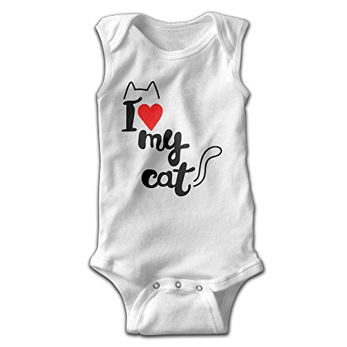 Old Fashioned Nurse Costumes (Jozie I LOVE MY CAT None Sleeve Jump Romper, Onesie Climbing Clothes UNISEX)