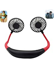 Portable Sports Neck Hanging Fan,USB Rechargeable Hands-Free Mini Fan,(3 Speeds, 6-10 Working Hours) for Outdoor Home-Sports,Running,Fitness, Office, Camping, Travel,Personal Fan