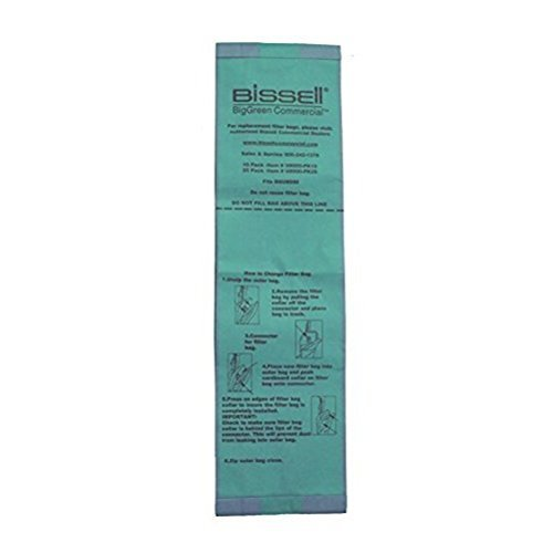 Vacuum Cleaner Bags, 3-13/64in.L, PK25 by Bissell Commercial