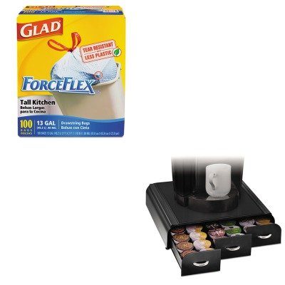 KITCOX70427EMSTRY01BLK - Value Kit - Ems Mind Reader Llc Anchor K-Cup Coffee Organizer (EMSTRY01BLK) and Glad ForceFlex Tall-Kitchen Drawstring Bags (COX70427) by Ems Mind Reader Llc