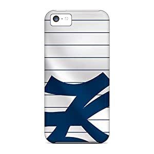 Shock Absorption Hard Phone Covers For Iphone 5c With Customized Stylish New York Yankees Image ErleneRobinson
