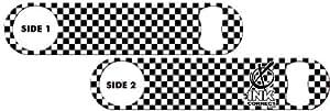 Killer Inked Bottle Opener: Checkers Black and White