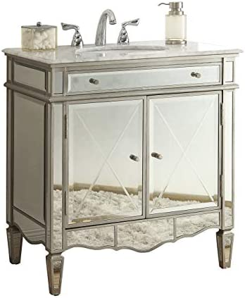 32 Modern Contemporary Style Mirrored Ashmont Bathroom Sink Vanity Model N-744