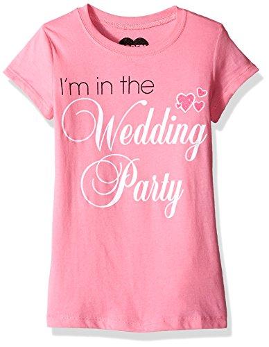 Jerry Leigh Girls' Flower Girl T-Shirt Shirt, Strawberry, Medium/7/5
