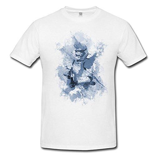 Stormtrooper Herren T- Shirt , Stylisch aus Paul Sinus Aquarell Cyan
