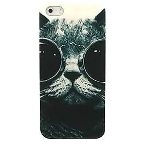 GONGXI- gato adorable efecto caja de vidrios duro del patrón para el iphone 5 / 5s