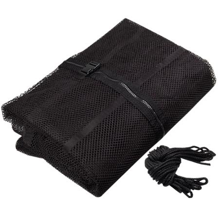 "Durable Black 12' Ft Trampoline Enclosure Safety Mesh Net 71"" Height Replacement Screen Netting Zip Strap Buckle Closure Polyester Fabric for Home Jumper Bouncer by Generic"