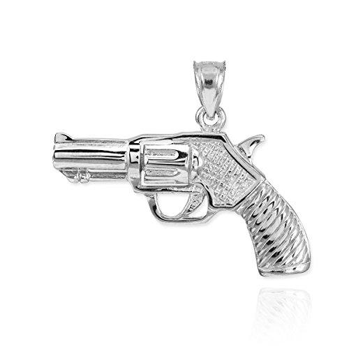 Fine 925 Sterling Silver Revolver Pistol Charm Gun (Sterling Silver Revolver)