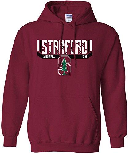 NCAA Stanford Cardinal Bars & Stripes Hooded Sweatshirt, Large,Cardinal