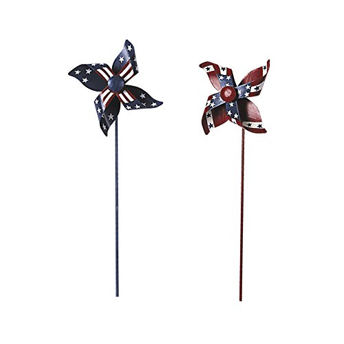 YK Decor 2pcs Patriotic Stars and Stripes American Flag Pin