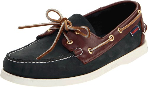 Blue Leather Athletic Shoes (Sebago Men's Spinnaker Shoe,Blue/Brown,10.5 M US)