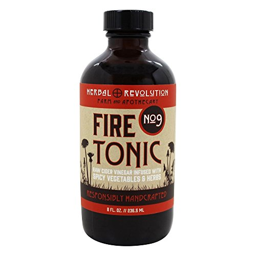 Herbal Cider Tonic (Herbal Revolution - Raw Cider Vinegar Fire Tonic No. 9 Spicy Vegetables and Herbs - 8 fl. oz.)