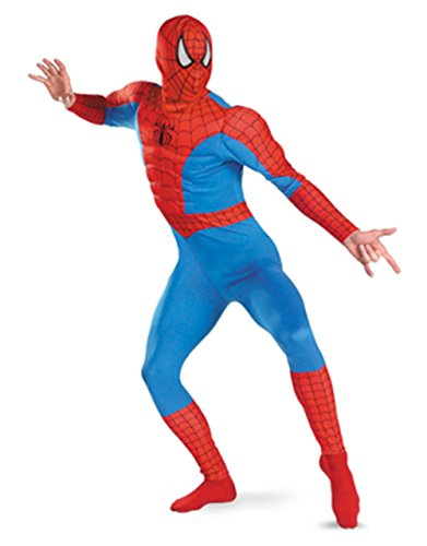 Disguise Men's Marvel Spider-Man Classic Muscle Costume,