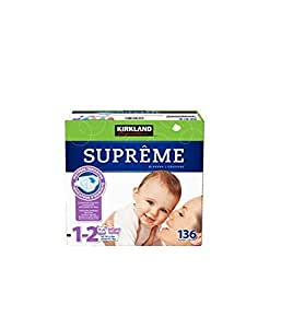 kirkland signature supreme diapers size 1 2 quantity 136 other products baby. Black Bedroom Furniture Sets. Home Design Ideas