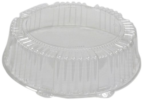 CaterLine Plastic Round Catering Tray Dome Lid, 12-Inch Diameter x 2.75-Inch Height, Clear (25-Count)