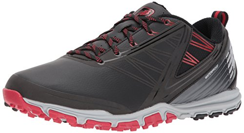 New Balance Men's Minimus SL Waterproof Spikeless Comfort Golf Shoe, 9.5 D D US, black/red