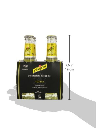 Schweppes Tónica Premium Mixer Agua Tónica - Pack de 4 x 20 cl - Total: 800 ml: Amazon.es: Amazon Pantry