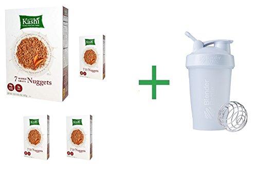 7 Whole Grain Nuggets - Kashi, 7 Whole Grain Nuggets, 20 oz (567 g) ( 4 PACK ) + Fruity Chews Gum Watermelon 1/60 Count + Trident Go Cup Spearmint 1/60 Count (BUNDLE)