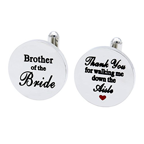 Melix Home Brother of the Bride stainless-steel Cuff Links,Thank You for Walking Me Down the Aisle Cuff Links, Brothe Wedding Partyr Gifts (Aisle Walking)