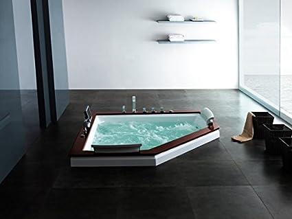 Sevilla 667 calentador Whirlpool moderna bañera con accesorios 24 chorros para el cuerpo./Ozone esterilización/elegante/El consumo de agua ...