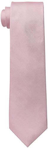 Ben Sherman Men's Belem Solid 100% Silk Skinny Tie, Pink, One Size